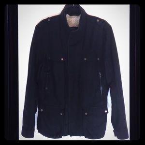 Tahari Lined Retractable Hood Outerwear Zip Jacket